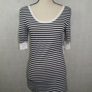 INC Concepts Top size M Striped 1/2 Cuffed Sleeve